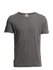 ALDER basic tee - GOTS/Vegan - DARK GREY MELANGE