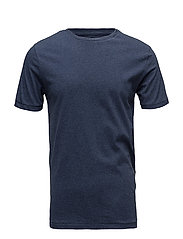 Basic Regular Fit O-Neck Tee GOTS - INSIGNA BLUE MELANGE