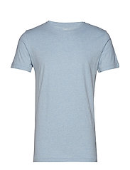 ALDER basic tee - GOTS/Vegan - SKY WAY MELANGE