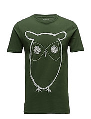 Single Jersey With Owl Print - GOTS - BLACK FORREST