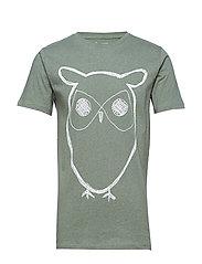 ALDER big owl tee - GOTS/Vegan - GREN MELANGE