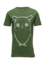 Single Jersey With Owl Print - GOTS - KALE