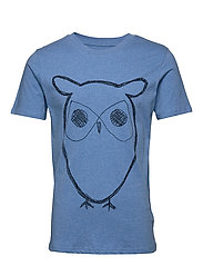 ALDER big owl tee - GOTS/Vegan - LIGHT BLUE MELANGE