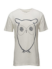 ALDER big owl tee - GOTS/Vegan - STAR WHITE