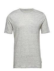 Single Jersey Linen T-shirt - GOTS/ - GREY MELANGE