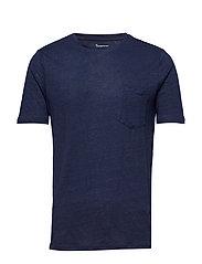 Single Jersey Linen T-shirt - GOTS/ - TOTAL ECLIPSE