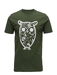 T-shirt with big owl concept print - BLACK FORREST