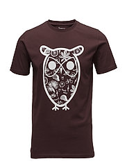 T-shirt with big owl concept print - DECADENT CHOKOLADE