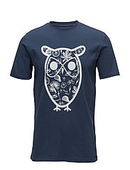 T-shirt with big owl concept print - INSIGNA BLUE