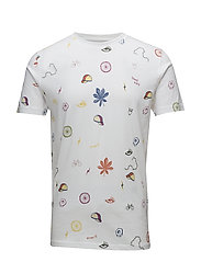 T-shirt with all over concept print - BRIGHT WHITE