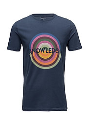 T-shirt with knowledge print - GOTS - INSIGNA BLUE