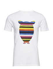 T-shirt with striped owl print - GO - BRIGHT WHITE
