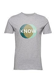 T-shirt with know print - GOTS/Vega - GREY MELANGE