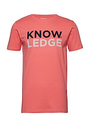 T-shirt with Knowledge print - OCS/ - SPICED CORAL