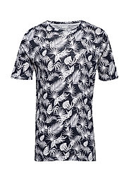 Single Jersey Linen T-shirt with pr - TOTAL ECLIPSE