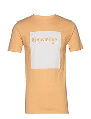 T-shirt with square logo - GOTS - BANANA MELANGE