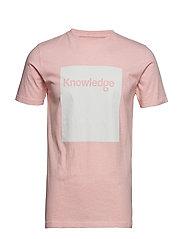 T-shirt with square logo - GOTS - PINK MELANGE