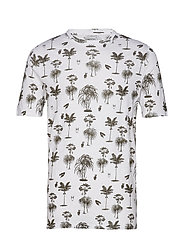 T-shirt with palm print - GOTS - FORREST NIGHT