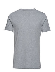 ALDER basic v-neck tee - GOTS/Vegan - GREY MELANGE