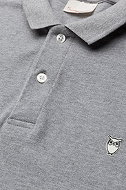 Knowledge Cotton Apparel - Pique Polo -  GOTS/Vegan - lyhythihaiset - grey melange - 2