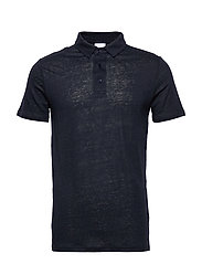 ROWAN linen polo - GOTS/Vegan - TOTAL ECLIPSE