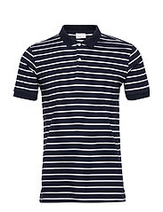 ROWAN striped polo - GOTS/Vegan - TOTAL ECLIPSE