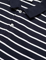 Knowledge Cotton Apparel - ROWAN striped polo - GOTS/Vegan - lyhythihaiset - total eclipse - 2