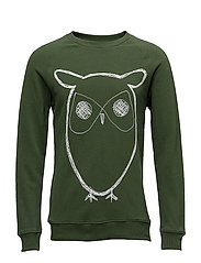 Sweat Shirt With Owl Print - GOTS/V - BLACK FORREST