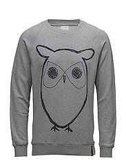 Sweat Shirt With Owl Print - GOTS/V
