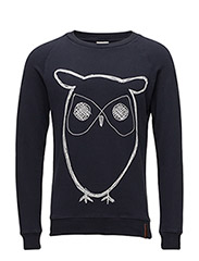 Sweat Shirt With Owl Print - GOTS/V - TOTAL ECLIPSE
