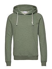 ELM small owl hoodie sweat - GOTS/V - GREN MELANGE