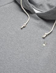 Knowledge Cotton Apparel - ELM small owl hoodie sweat - GOTS/V - basic sweatshirts - grey melange - 2
