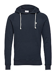 ELM small owl hoodie sweat - GOTS/V - TOTAL ECLIPSE