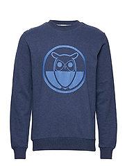 Sweat with logo print - GOTS - INSIGNA BLUE MELANGE