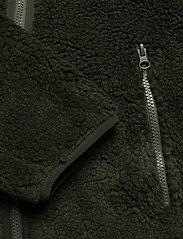 Knowledge Cotton Apparel - ELM zip teddy fleece sweat - Vegan - basic-sweatshirts - forrest night - 3