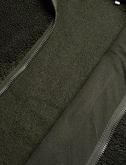 Knowledge Cotton Apparel - ELM zip teddy fleece sweat - Vegan - basic-sweatshirts - forrest night - 4