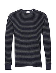 Striped velvet sweat - Vegan - DARK GREY MELANGE