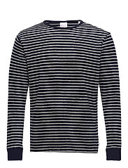 Striped velvet sweat - Vegan - TOTAL ECLIPSE
