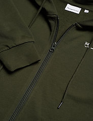 Knowledge Cotton Apparel - ELM knowledge transfer hood zip swe - basic sweatshirts - forrest night - 2