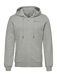 ELM knowledge transfer hood zip swe - GREY MELANGE