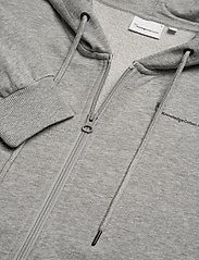 Knowledge Cotton Apparel - ELM knowledge transfer hood zip swe - basic sweatshirts - grey melange - 2