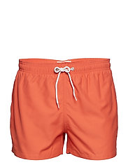 Swim Shorts Solid - GRS/Vegan - SPICED CORAL