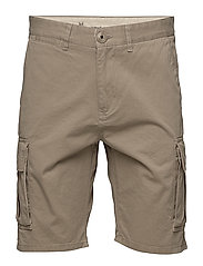 Cargo shorts - GOTS - LIGHT FEATHER GRAY