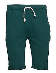 Melange fleece shorts - GOTS/Vegan - BISTRO GREEN