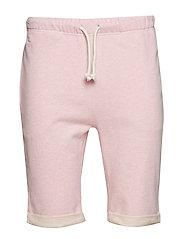 Melange fleece shorts - GOTS/Vegan - PINK MELANGE