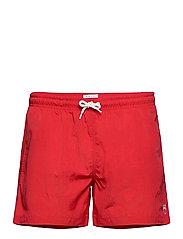 BAY swimshorts - VEGAN - SCARLET