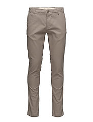 Fabric dyed chino pant  - GOTS - LIGHT FEATHER GRAY
