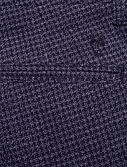 Knowledge Cotton Apparel - Chuck Papita checked stretched pant - puvunhousut - total eclipse - 4