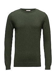Basic O-Neck Cotton/Cashmere - GOTS - RIFLE GREEN