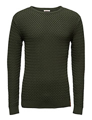 Small Diamond Knit - GOTS - RIFLE GREEN